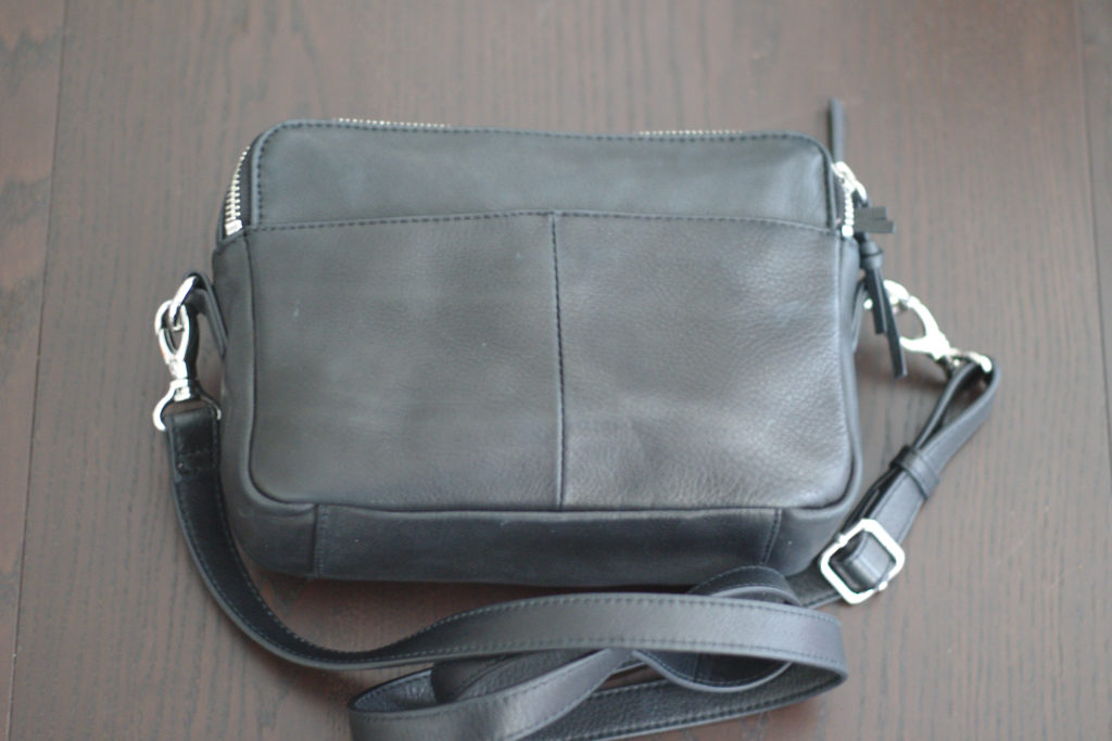 Zoey Double Zip Leather Camera Crossbody