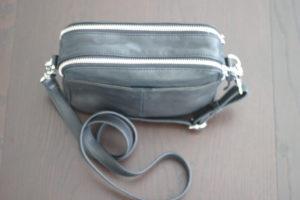 Zoey Double Zip Leather Camera Crossbody