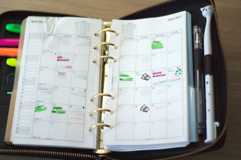 Filofax Monthly View